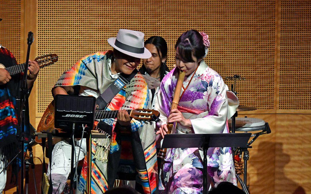 Sisay y Saishoku-Kembi celebran con estilo las relaciones entre Ecuador y el Japón