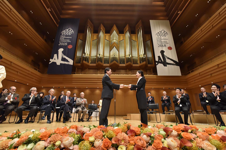 보컬리스트, 지휘자, 실내악단 부문의 도쿄국제음악경연대회를