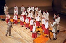 """Riga Chamber Choir """"Ave Sol"""" from Latvia in 2004"""