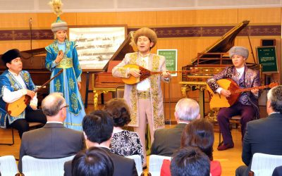 Folk Music Ensemble from the Kazakh National Academy of Arts Perform at the Min-On Culture Center