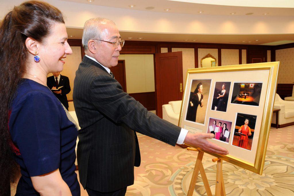 President Kobayashi and Victoria Loukianetz