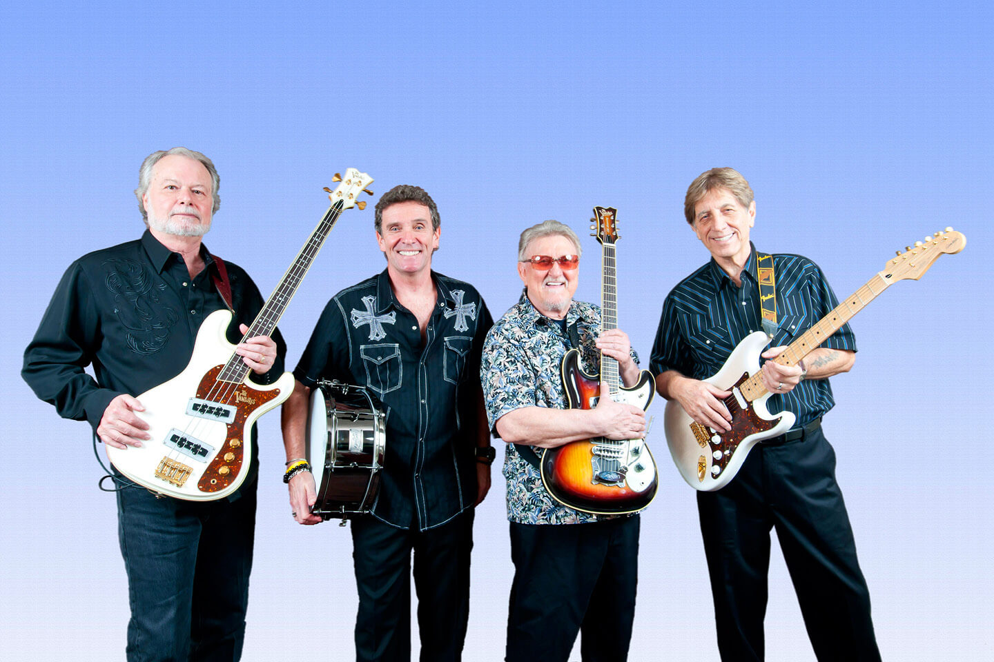 The Ventures during the 2012 Japan tour