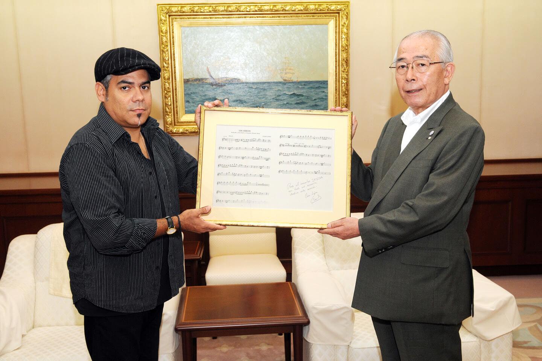 César López and President Kobayashi