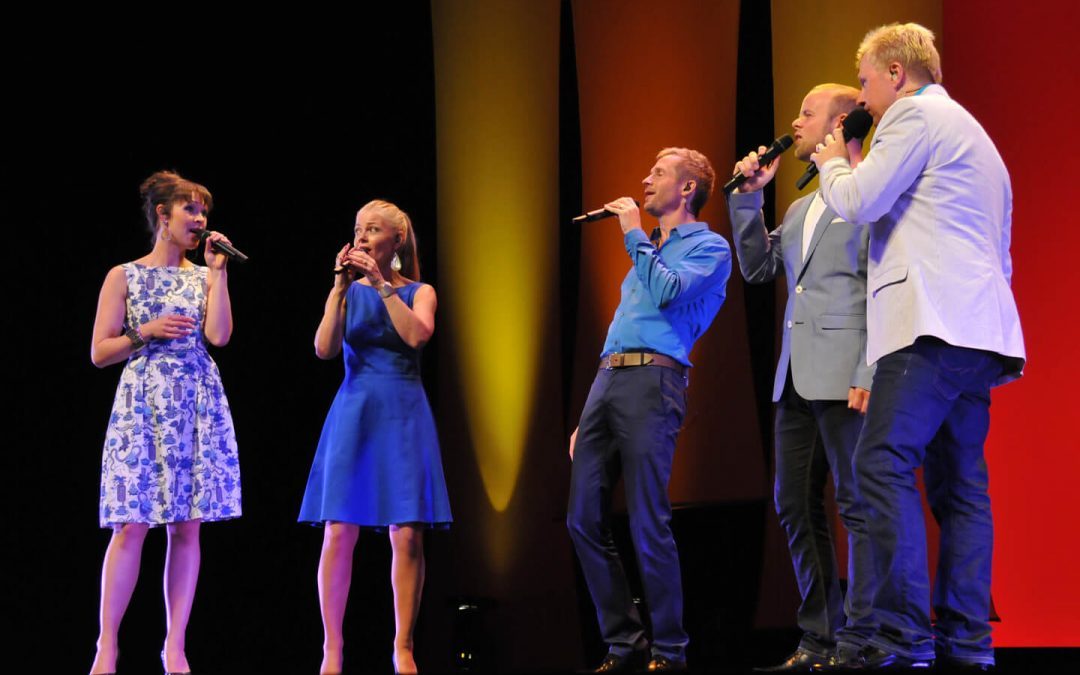 The Real Group Delights Audience with Vocal Artistry