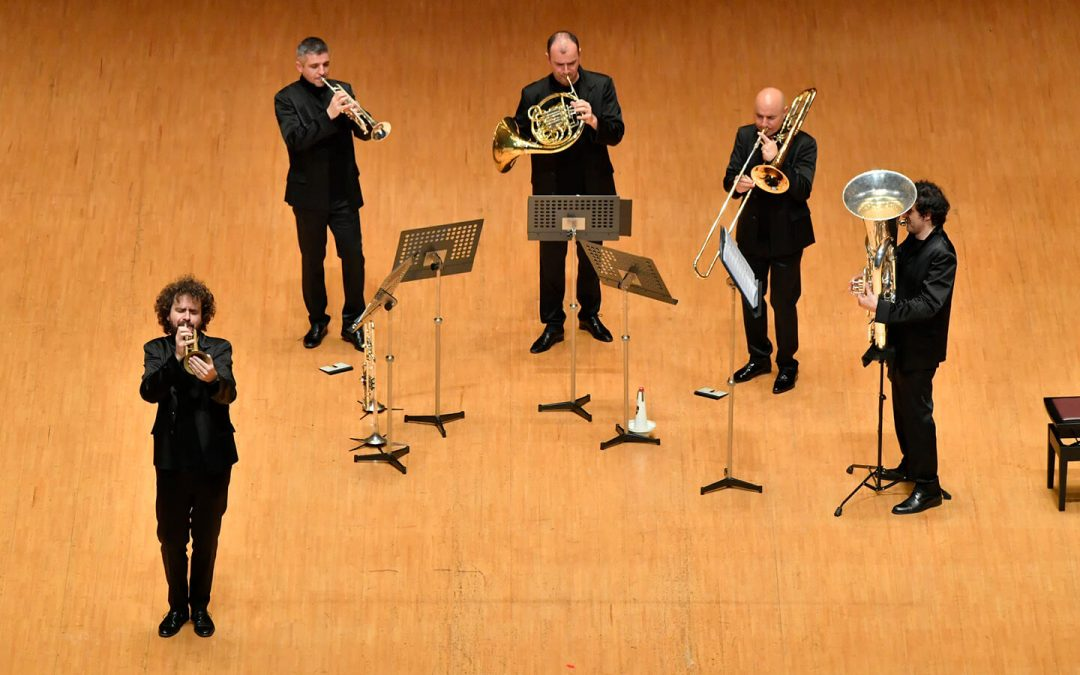 Gomalan Brass Quintet from Italy Delivers Musicianship and Humor