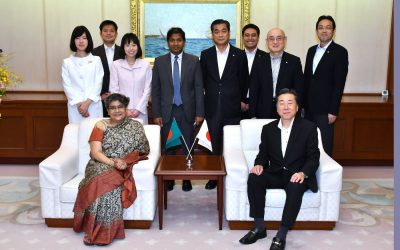 Ambassador of Bangladesh to Japan Visits Min-On Culture Center