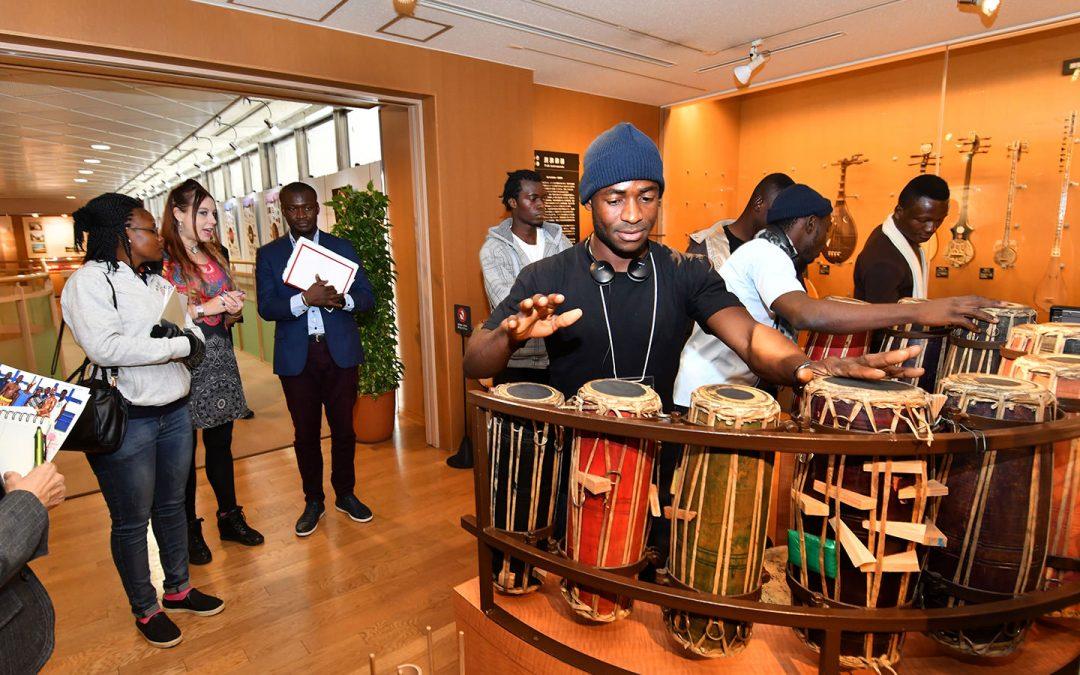 KASSOU-TRI from Côte d'Ivoire Visit Min-On Culture Center