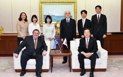 Ambassador of Greece to Japan Visits the Min-On Culture Center