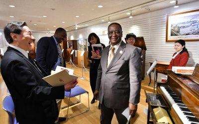 Ghanaian Ambassador Visits Min-On Culture Center