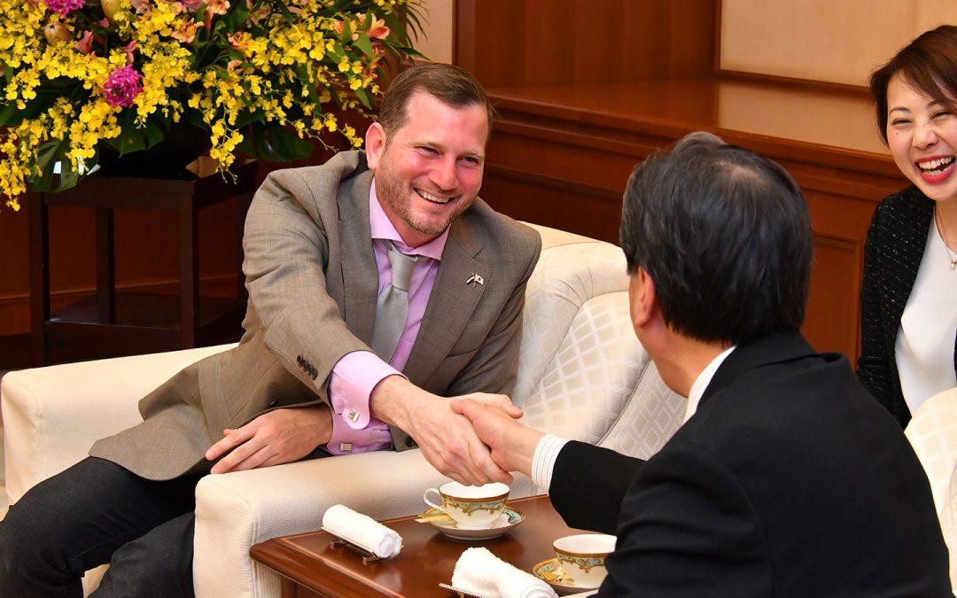 Ambassador of Nicaragua in Japan Visits Min-On Culture Center