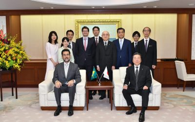 H.E. Mr. Eduardo Saboia, Ambassador in Japan for the Federative Republic of Brazil, Visits the Min-On Culture Center