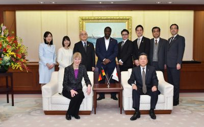 The Ambassador in Japan for Germany Visits the Min-On Culture Center