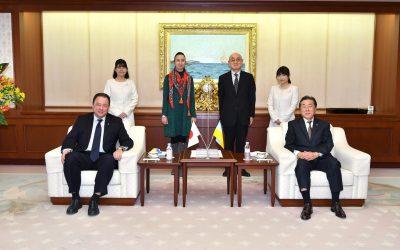 Ambassador of the Ukraine to Japan Visits Min-On Cultural Center
