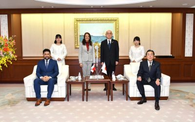 Ambassador of the Dominican Republic to Japan Visits Min-On Cultural Center
