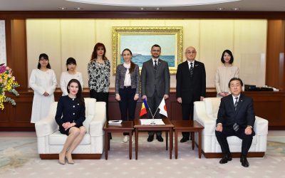 Chargée d'Affaires ad interim of Moldova to Japan Visits Min-On Cultural Center