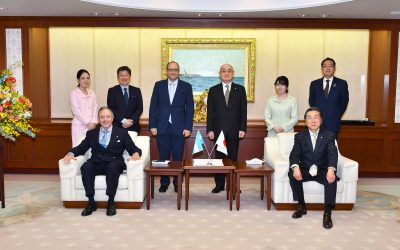 Ambassador of Argentina to Japan Visits Min-On Cultural Center