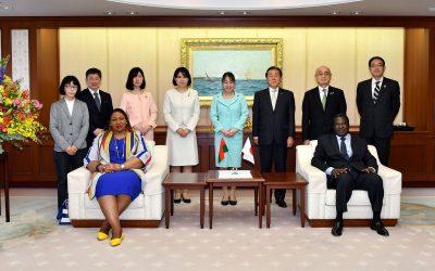 Ambassador of Burkina Faso to Japan Visits the Min-On Culture Center