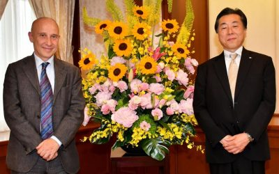 Ambassador of Italian Republic to Japan Visits the Min-On Culture Center
