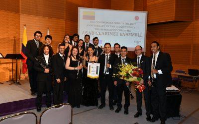 为纪念哥伦比亚共和国独立200周年, Francisco José de Caldas District University Clarinet Ensemble 举行演讲音乐会